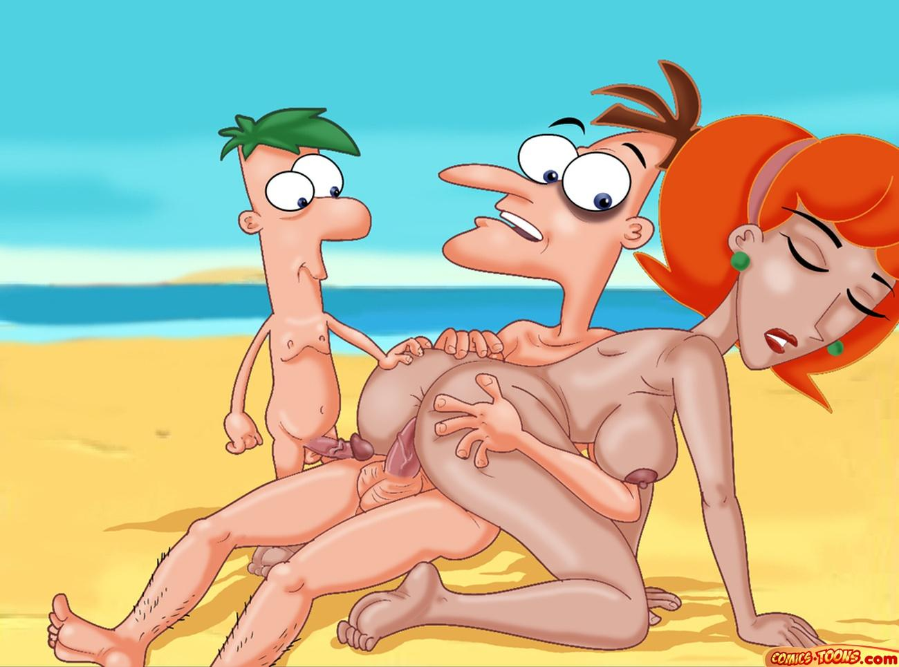 phineas ferb comic and porn Dragon age inquisition qunari male