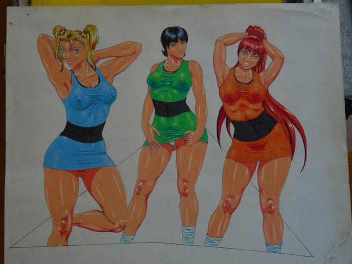 face girls powerpuff bellum sara Rakudai_kishi_no_cavalry