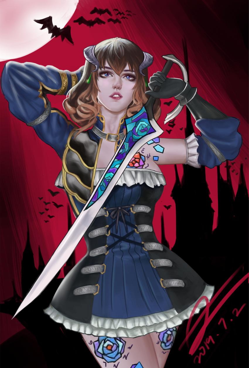 bloodstained the ritual kunekune night of Senpai ga uzai kouhai no hanashi