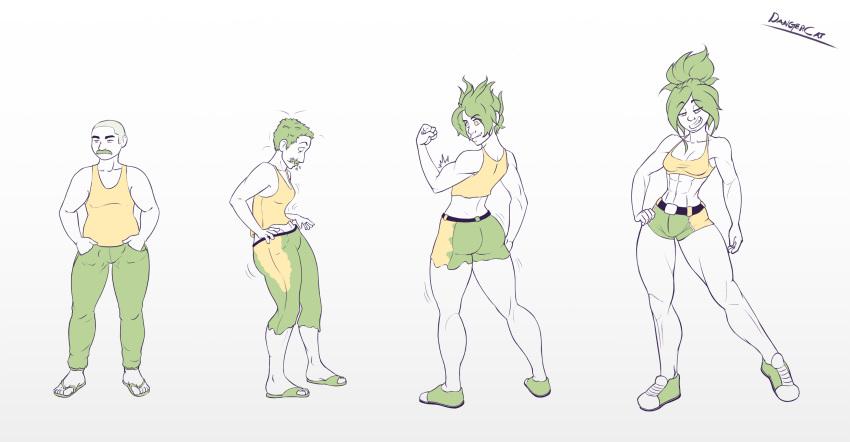 female transformation male to animated Pokemon sword and shield sonia fanart